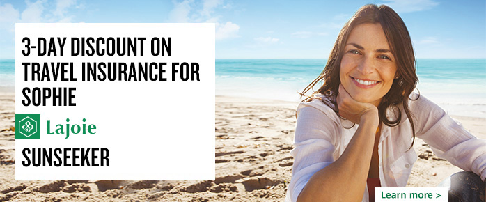 Desjardins Member Advantage: discount on travel insurance