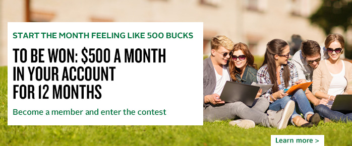 Start the Month Feeling Like 500 Bucks contest