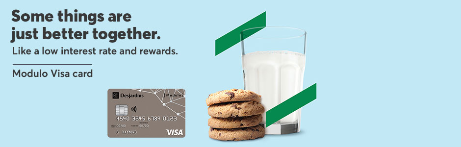 Some things are just better together. Like a low interest rate and rewards. Modulo Visa card