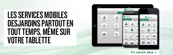 Services mobiles sur tablette