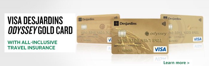 Odyssey Gold Visa Card - With all-inclusive travel insurance - Learn more