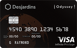Image of the Odyssey Visa Infinite Privilege card