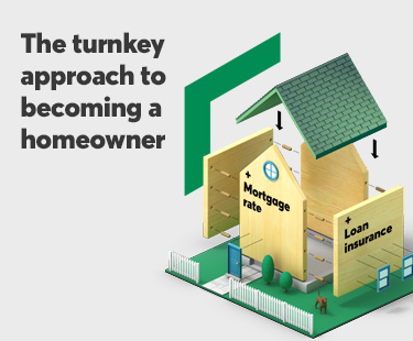 The turnkey solution to becoming a homeowner: 3.33% mortgage rate + $1,000 cash back + loan insurance