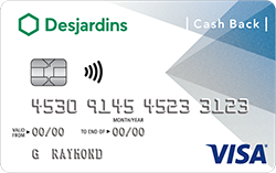 Image de la carte Student Cash Back Visa avec mention My card, my look