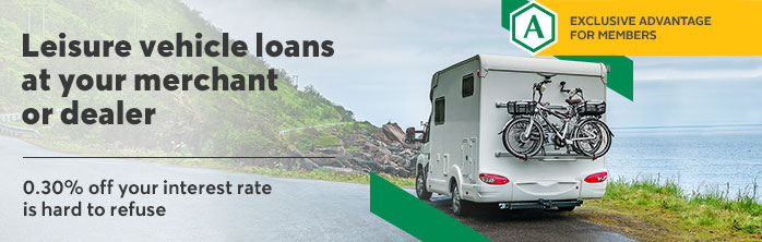 0.30% off your interest rate is hard to refuse. Learn more about Desjardins leisure vehicle loans at your merchant or dealer.