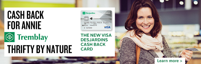 Visa Desjardins Cash Back card