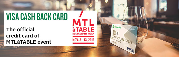 Visa Cash Back card and MTL�TABLE