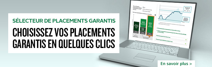 S�lecteur de placements garantis