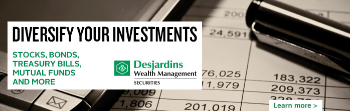 Diversify your investments with Desjardins Securities.