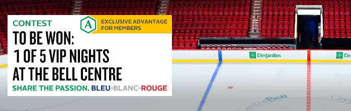 To be won: 1 of 5 VIP nights for a Bleu-Blanc-Rouge game