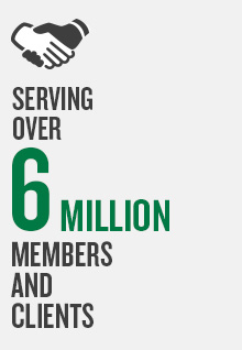 Serving over 6 million members and clients