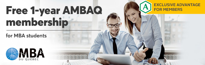 Exclusive offer for members: free 1-year AMBAQ membership for MBA students