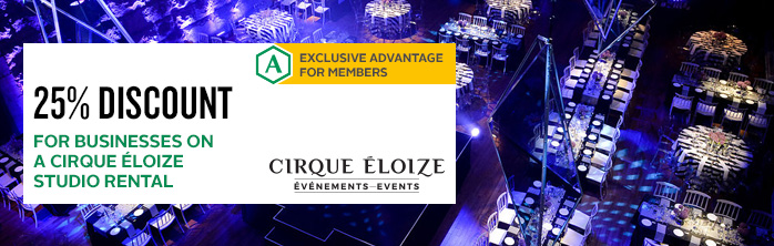 Exclusive offer for members: 25% discount for businesses on a Cirque Éloize studio rental