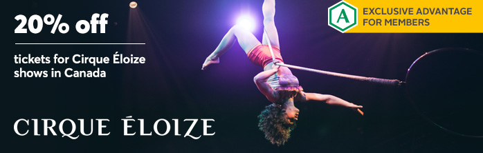 Exclusive offer for members: 20% off tickets for Cirque Éloize shows in Canada