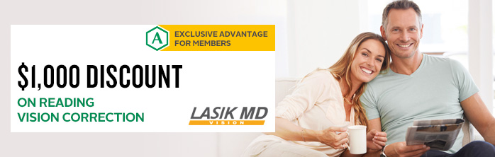 Exclusive offer for members: $1,000 discount on reading vision correction at LASIK MD