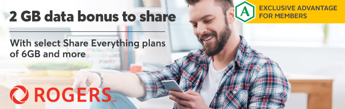 Exclusive offer for members: 2GB data bonus to share with select Share Everything plans of 6GB and more