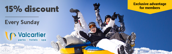 15% off a Rafting Pass at Valcartier Vacation Village