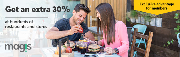 Exclusive offer for members: 30% more to  treat yourself at hundreds of restaurants and stores through Boutique Voir.