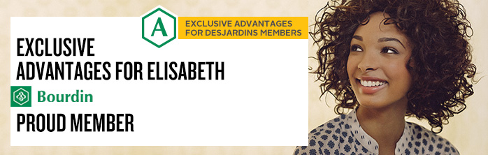 Exclusive advantages for Elisabeth Bourdin, young member.