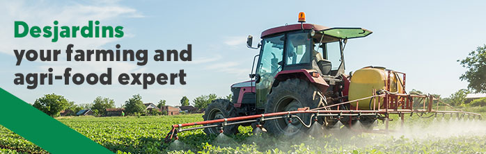 Desjardins, your farming and agri-food expert, Learn more about services for farming entrepreneurs.