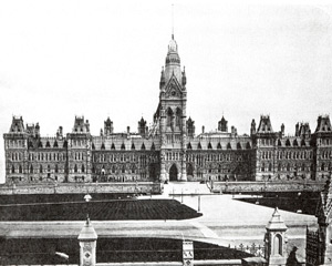 The Ottawa Parliament before the fire of 1914