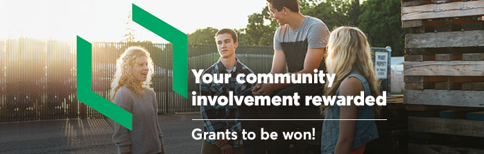 Your community involvement rewarded. Grants to be won! Learn more about the Change it Up contest.