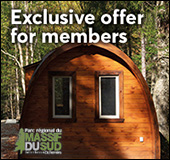 Exclusive discount for members on PODs at the Parc régional du Massif du Sud