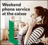Phone service at the caisse