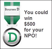 You could win $500 for your NPO!