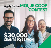 "5th annual <span lang=""fr"">Moi, je coop</span> contest"