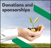 Donations and sponsorships.