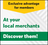Exclusive advantages at your local merchants