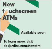 New touchscreen ATMs