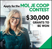"Sixth annual <span lang=""fr"">Moi, je coop</span> contest"