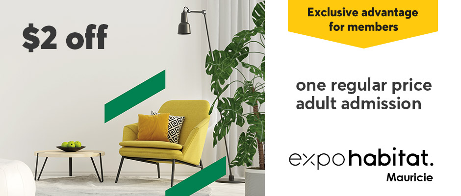 $2 off one regular price adult admission to Expo habitat Mauricie