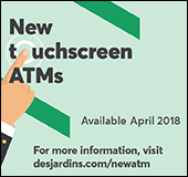 New ATMs at your caisse