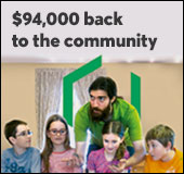 $94,000 back to the community
