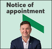 Notice of appointment