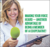 Making your voice heard - another advantage of being a member of a cooperative