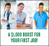 A $1,000 boost for your first job!