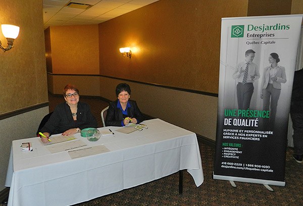 Linda Gosselin, Financial Services Agent, and Lise Baribeau, DBC Business Services Advisor, warmly welcomed our guests