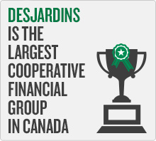 Desjardins, is the largest cooperative group in Canada.
